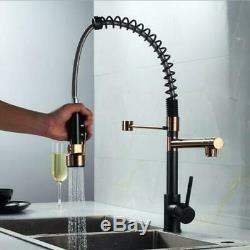 New ORB+Rose Gold Brass Kitchen Sink Faucet Dual Handles Single Hole Mixer Tap
