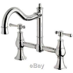 New Sink Mixer Exposed Kitchen Tap Set Shepherds Crook Chrome Nostalgia NS135CHR