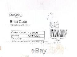 Pegler Brita Ceto 3-way Monobloc Chrome Kitchen Sink Mixer Tap 4b8020 Vat Incl