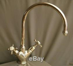 Perrin & Rowe Nickel Mono Mixer Taps Kitchen Taps Ideal Belfast Sink, Refurbed