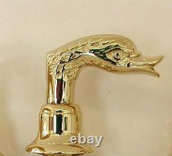 Polished Brass Swan Tub Faucet Matches our Sink AllBrass Swan Handles Free Ship