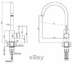 Quadron Ingrid Kitchen Sink Mixer Tap Copper/grey Finish Pvd Steelq