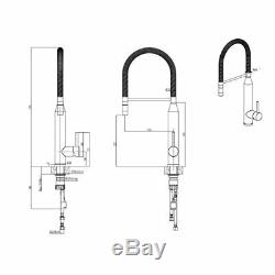 Quadron Marylin Moveable Pull Out Kitchen Sink Mixer Tap Stainless Steel Copper