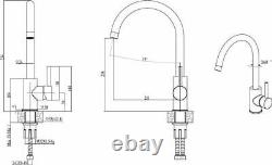 Quadron Morgan 111 + Ingrid Single Lever Kitchen Sink Mixer Tap Set White Copper