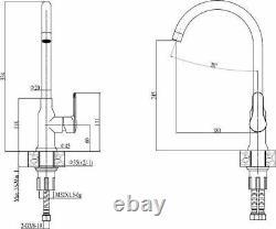 Quadron Morgan 111+sophia Slim Single Lever Kitchen Sink Mixer Tap Copper Black