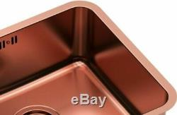 Quadron Nicolas Undermount Kitchen Sink + Angelina Pull Out Mixer Tap Copper