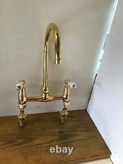 Refurbished Barber Wilsons Brass Lever Kitchen Tap -Ideal Belfast Sink- T26