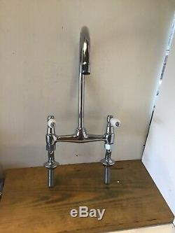 Refurbished Franke Chrome Lever Bridge Kitchen Tap Ideal Belfast Butler Sink T34