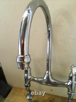 Refurbished Perrin & Rowe Ionian Chrome Kitchen Mixer Tap Ideal Belfast Sink T32