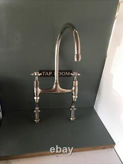 Refurbished Perrin & Rowe Ionian Nickel Kitchen Mixer Tap Ideal Belfast Sink R22