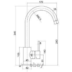 Reginox Kalix Kitchen Sink Tap Swivel Spout Mixer Hot Taps Single Lever Copper