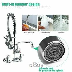 Restaurant Kitchen Sink Faucet High Pressure Device Pull Down Sprayer Mixer Tap
