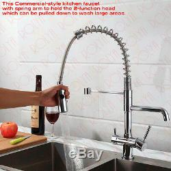 Rolya Professional Clean Water Kitchen Faucet Sink Mixer 3 Way Water Filter Tap