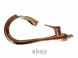 Rose Gold Swivel Spout Kitchen Sink Brass Faucet Pull Out and Down Mixer Tap