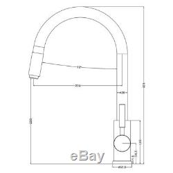 Round Matte Black Pull Out 360° Swivel Lollipop Pin Laundry/Kitchen Sink Mixer