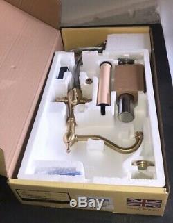 SALE Perrin & Rowe 1475 Picardie Filtration Sink Mixer Satin Brass