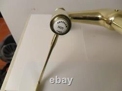 SOLID Brass Original Antique Kitchen mixer refurbished vintage reclaimed OLD TAP