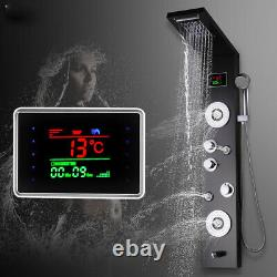Shower Panel Tower System LED Rainfall Waterfall Shower with Temperature Display