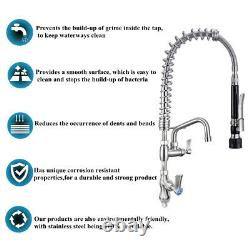 Single Handle Pull Down Sprayer Spring Kitchen Sink Faucet Mixer Full Stainless