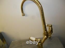 Solid Brass Mixer Taps Ideal Belfast Sink Fully Refurbed Taps