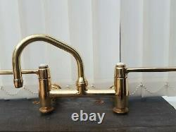 Solid Brass Wall Mounted Mixer Tap Old Vintage Reclaimed
