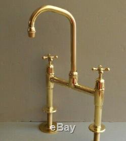 Stunning Brass Mixer Taps Ideal Belfast Sink, Fully Refurbished Kitchen Taps