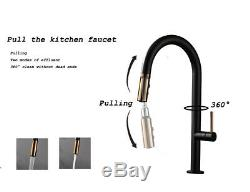 Touch Kitchen Sink Faucet Pull Out Sprayer Swivel Mixer Tap Sensor Matte Black