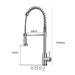 Touch Sensor Kitchen Sink Faucet Pull Down Sprayer Swivel Spout Sink Mixer Tap