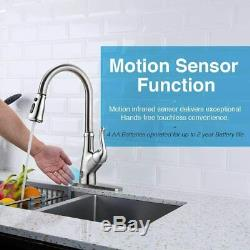 Touchless Kitchen Faucet with Pull Down Sprayer, Kitchen Sink Faucet With Pull out