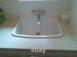 Tough Sink MAXIMUS white granite laundry, utility, industrial, garage, kitchen