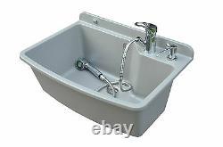 Tough Sink Maximus Grey Granite + Pull Out Mixer Tap + Soap Dispenser Set