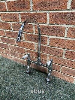 Traditional Polished Chrome Lever Franke Bridge Mixer Tap Ideal Belfast Sink