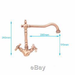 Tre Mercati French classic mono sink mixer 195 Copper Plated