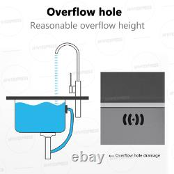US 2-Hole Mount Stainless Steel Kitchen Sink Free faucet + drain + drain basket