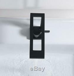 Unique Black Bathroom Faucet Single Handle Basin Sink Mixer Washstand Faucet NEW