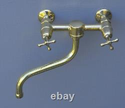 VINTAGE PEGLER MIXER TAP wall mouted faucet vintage brass UK bucket