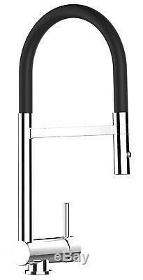 VIZIO Folding Tap Under Window kitchen sink mixer black pull out spray shower