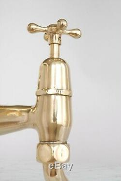 Vintage Sink Mixer Taps Brass Fully Refurbished Antique Kitchen Belfast Sink