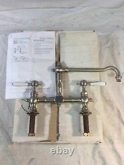 Waterworks JUKM14-K Julia Deck Mounted Two Hole Kitchen Mixer