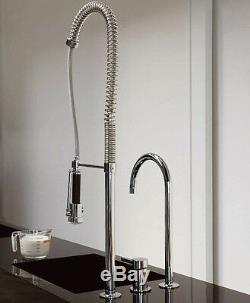 Zucchetti Pan ZP6277 Kitchen Sink Mixer withPull-Out Spray/Swivel Spout/Diverter